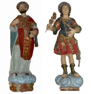 Santi Emilio e Priamo, venerati nella Concattedrale Maria Immacolata in Bosa. Festa: 28 Maggio